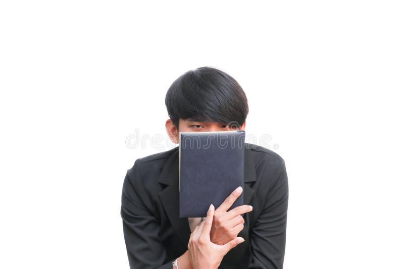 Studencka mienie książka na białym tle zdjęcia stock