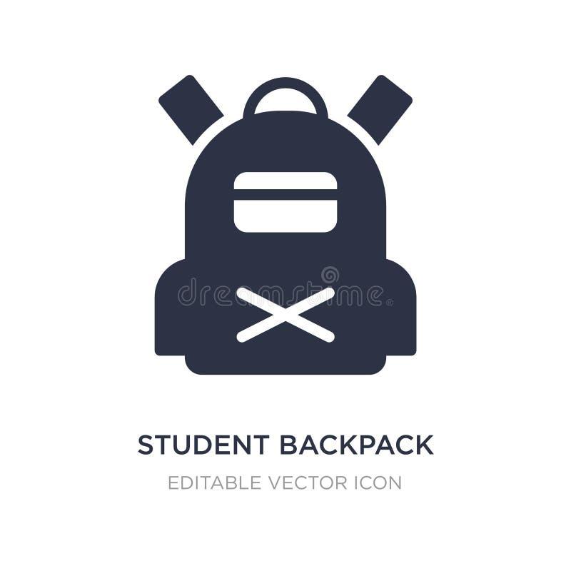 studencka plecak ikona na białym tle Prosta element ilustracja od podróży pojęcia ilustracja wektor