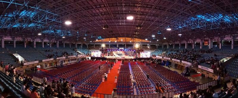 Studencka skalowanie ceremonia w Tajwan obraz stock