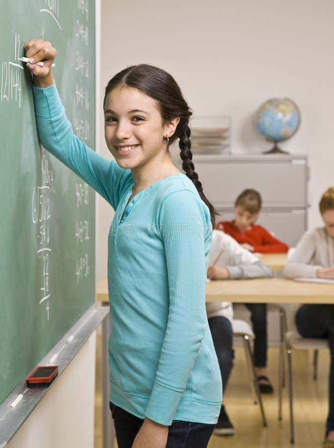 studencki blackboard writing zdjęcie stock