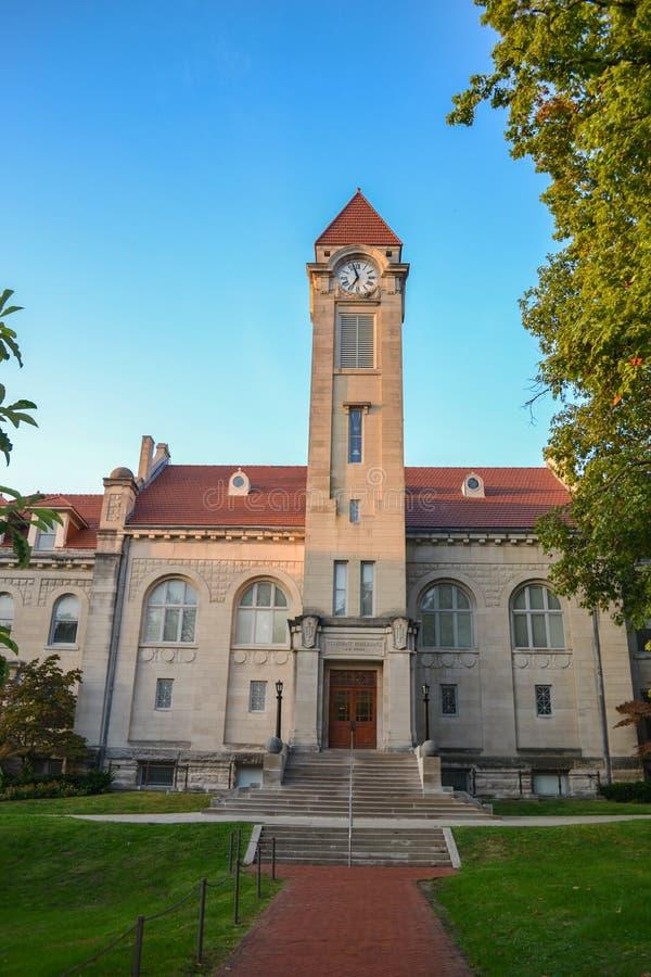 Studencki budynek przy Indiana uniwersytetem zdjęcia stock