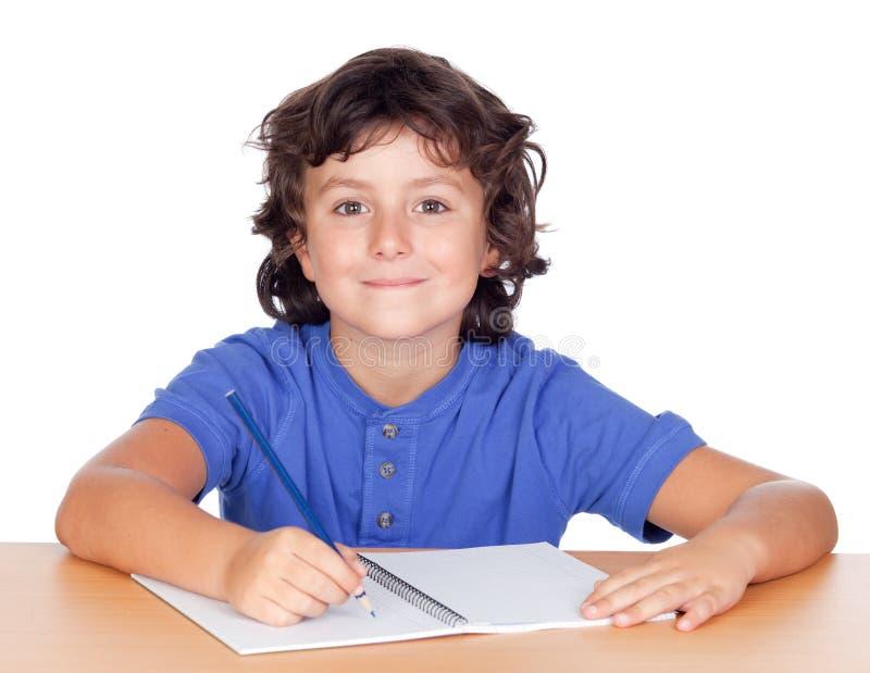 studencki dziecka studiowanie zdjęcia stock
