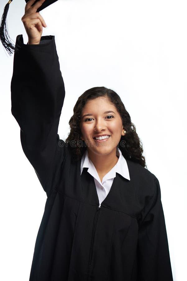 Studencki dziewczyna rzutu kapelusz obraz stock