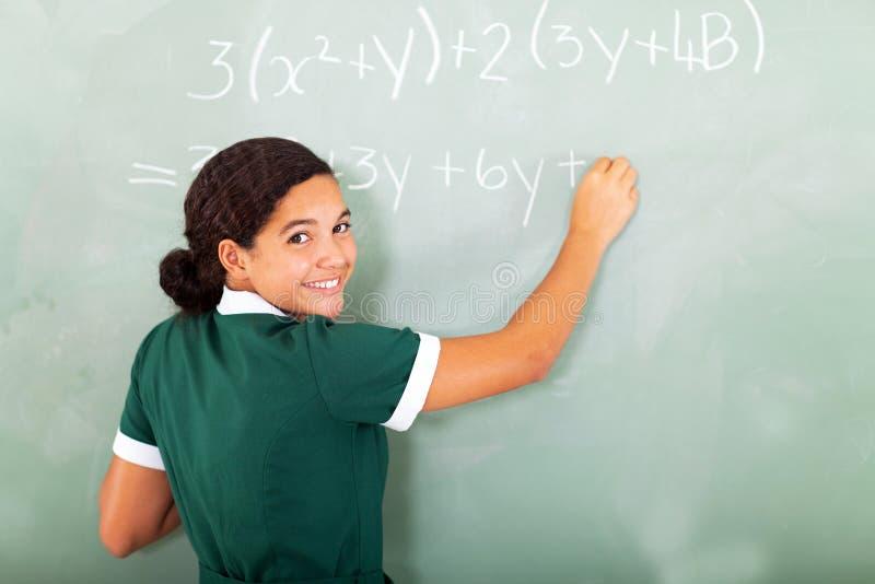 Studencki maths blackboard fotografia royalty free