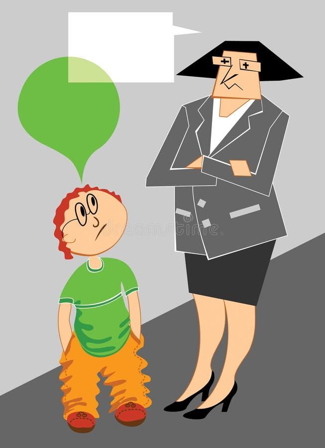 studencki nauczyciel ilustracji