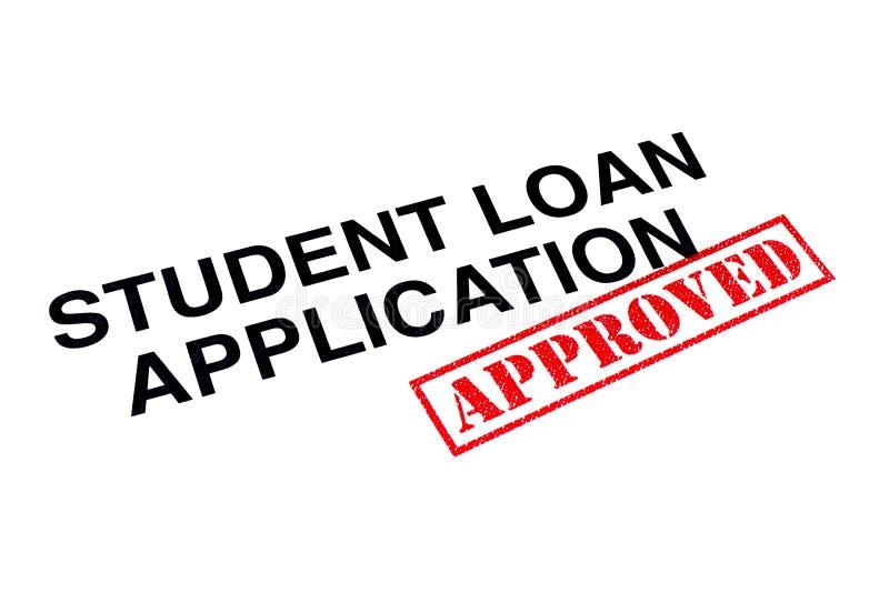 Studencki Pożyczkowy zastosowanie Zatwierdzający zdjęcie stock