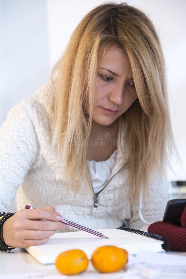 Studencki uczenie dla egzaminu zdjęcie royalty free
