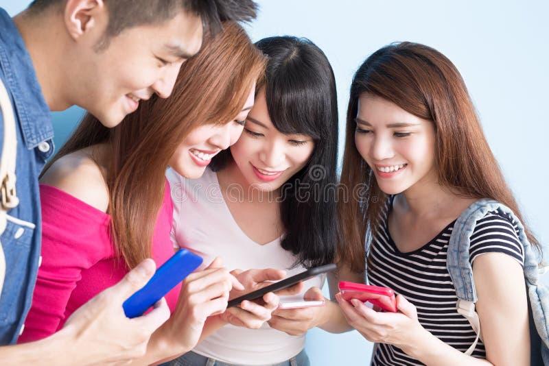 Studencki use telefon obrazy royalty free