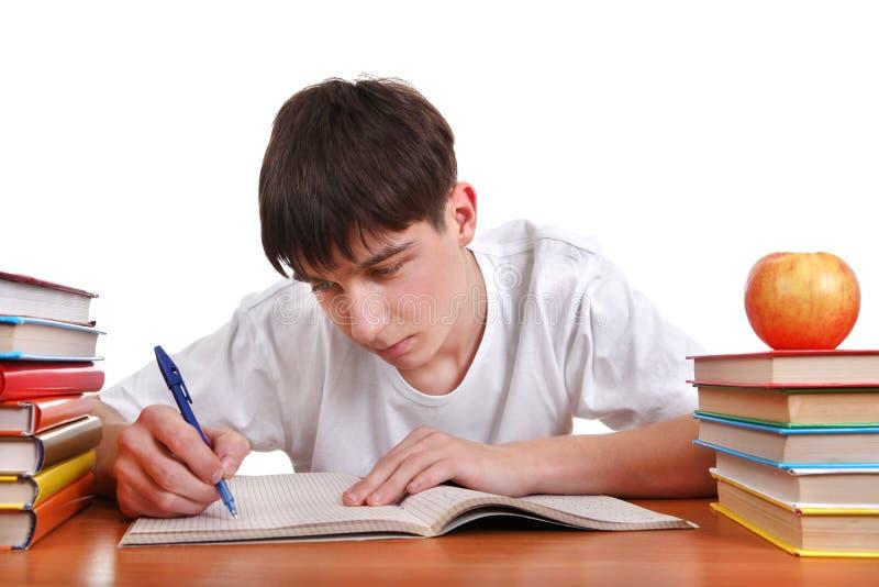 Studencki writing obrazy stock