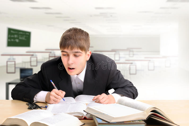Download Student stock photo. Image of attention, male, high, interior - 19129372