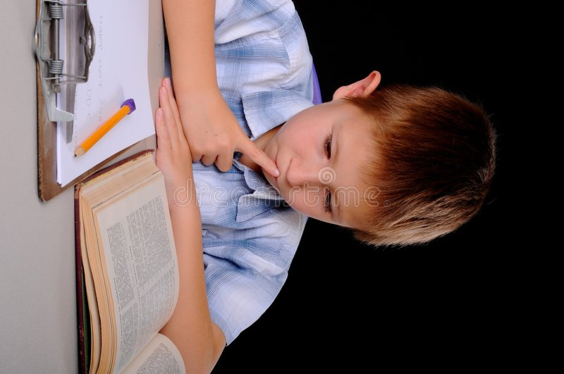 The Student stock image