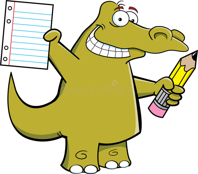 Download Student Alligator stock vector. Image of smiling, running - 26383034