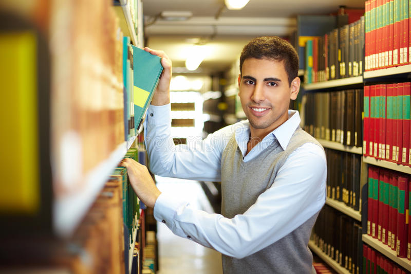 Student in archive stock images