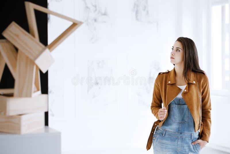 Student av konst royaltyfri bild