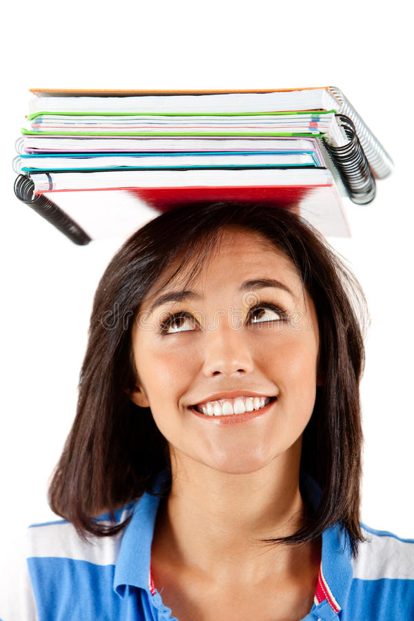 Download Student balancing books stock image. Image of smile, lifestyle - 21562641