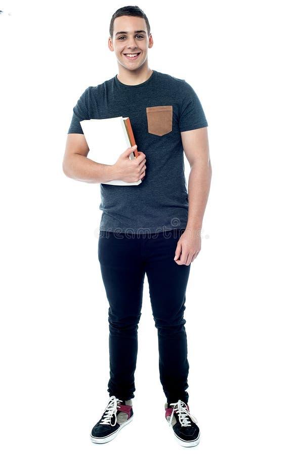 Student bereit, an Klasse teilzunehmen lizenzfreie stockfotos