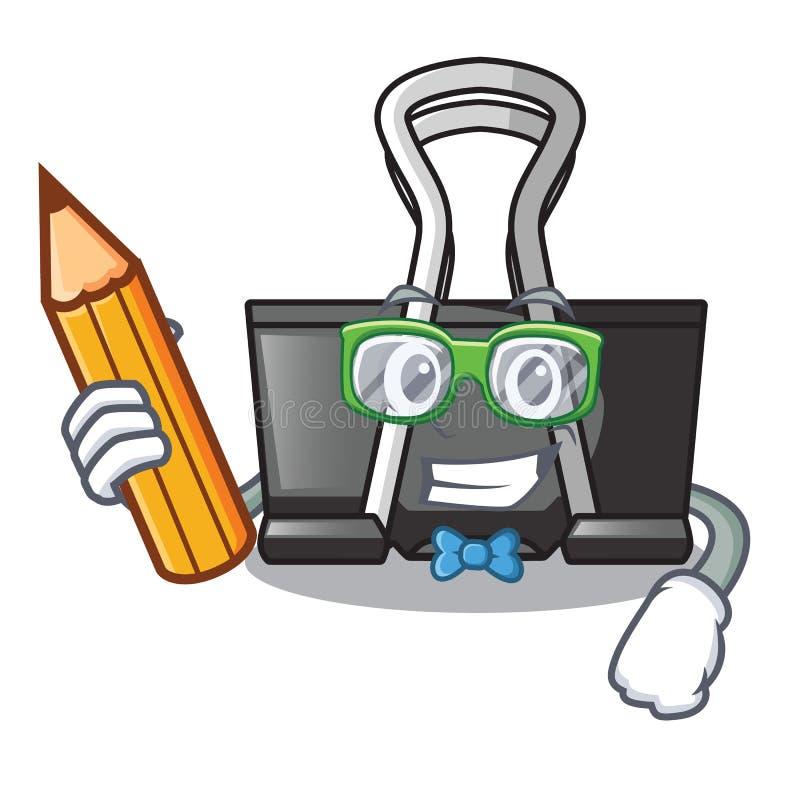 Student binder clip isolated on the cartoon. Vector illustration stock illustration