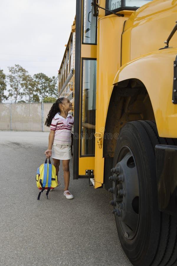 Student Boarding School Bus royaltyfria foton