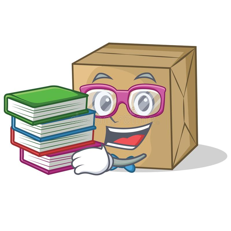 Student with book cardboard character character collection stock illustration