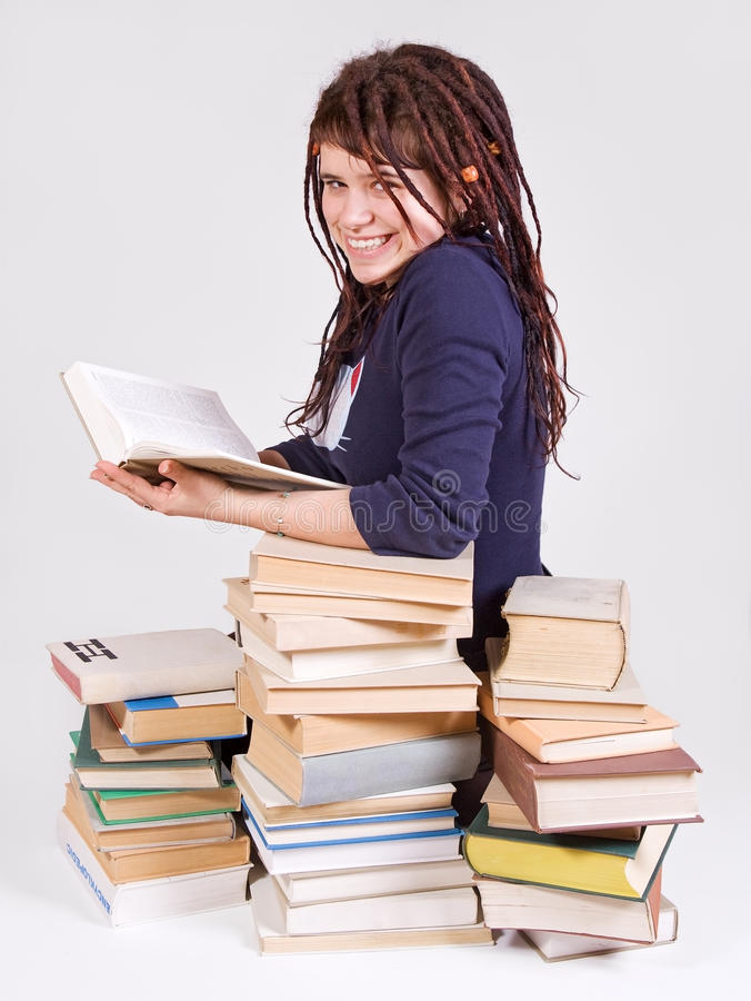 Download Student with books stock photo. Image of learner, schoolgirl - 11056832