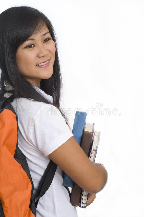 Download Student with books 6 stock image. Image of chinese, computer - 12567901
