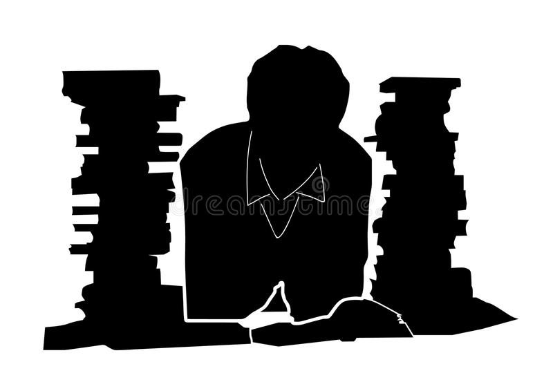 Student and books royalty free stock image
