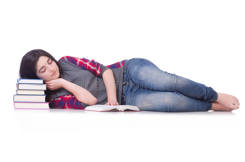 Download Student with books stock image. Image of education, girl - 34867093
