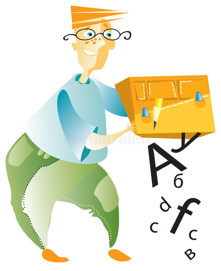 Download Student With Box Of Letters Stock Photos - Image: 7739363