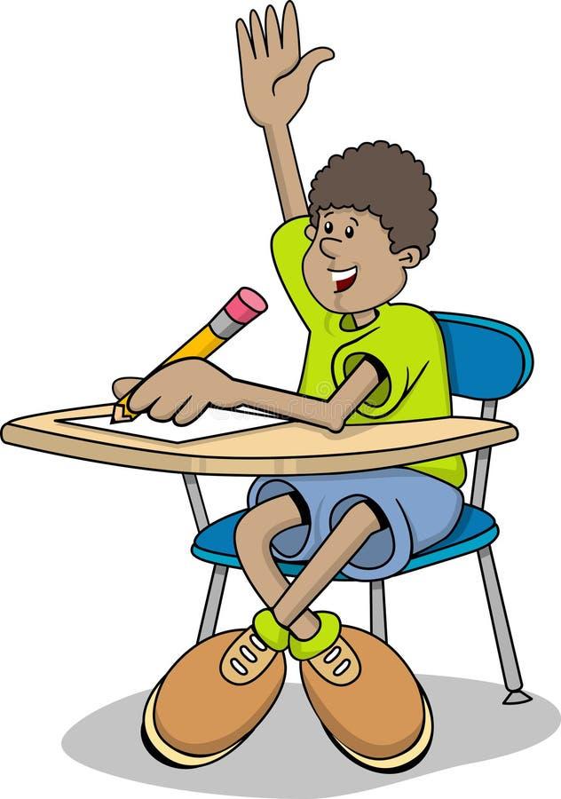 Student boy vector illustration