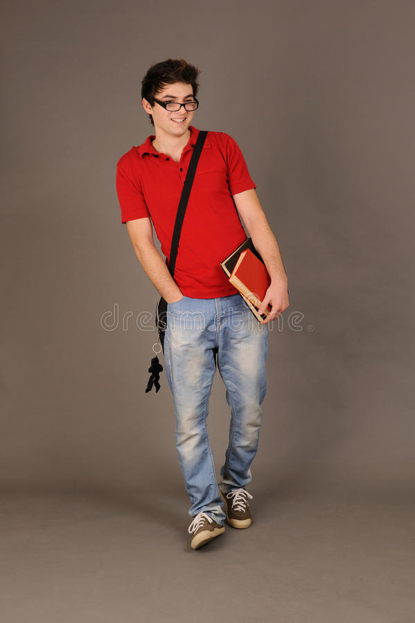 Download Student boy. stock image. Image of gray, modern, casual - 18067855