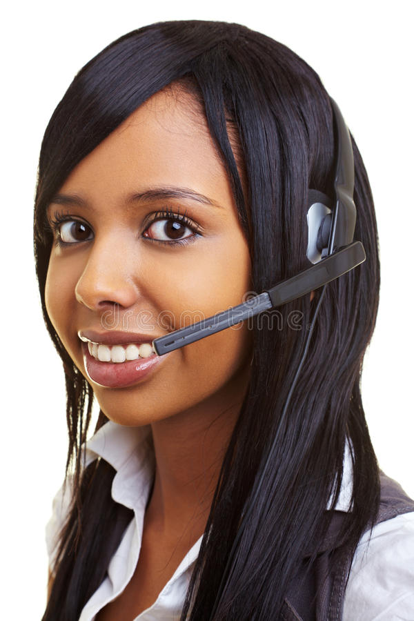 Download Student in a callcenter stock photo. Image of african - 14862128