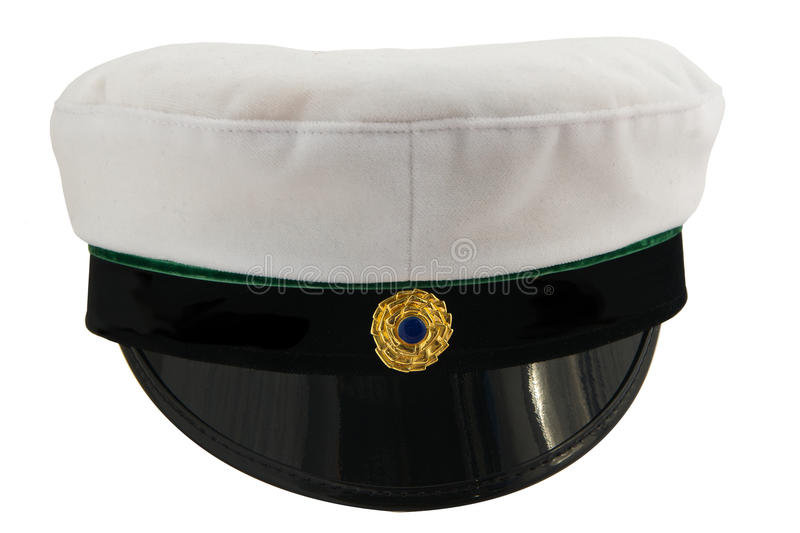 Student cap Swedish isolated. Swedish student cap front view isolated on white background stock images
