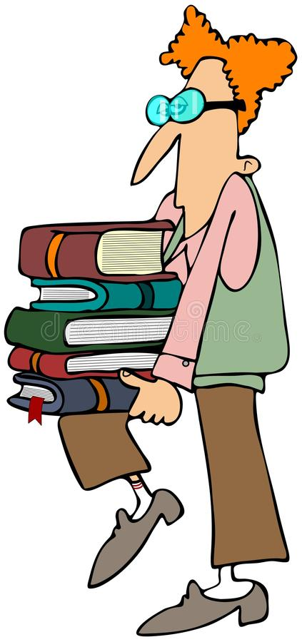 Student Carrying Books Stock Photos