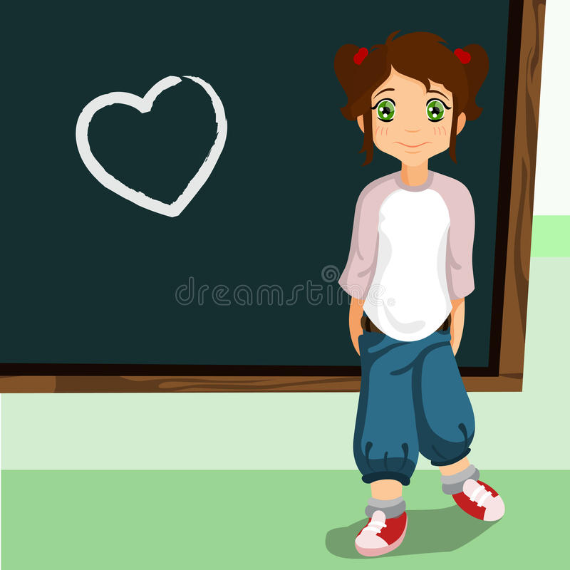 Student On The Chalkboard Stock Images