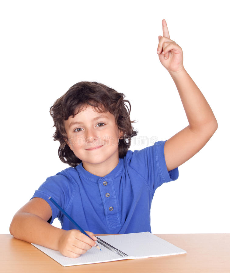 Free Student Child Studying Raising The Hand Stock Photo - 15934010