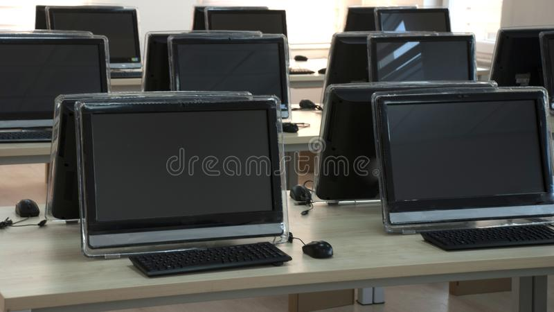 Student Computer Laboratory arkivfoton