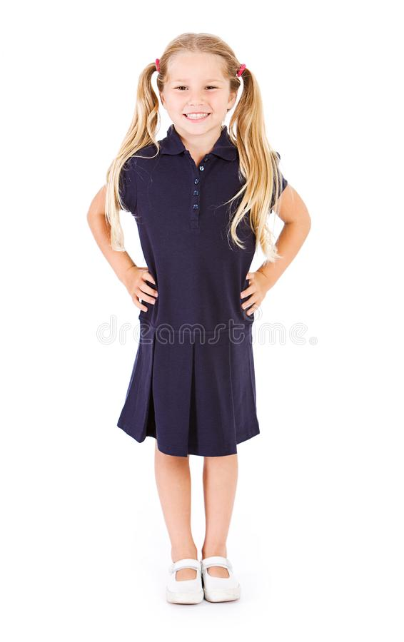 Student: De Kledingsverbindingsdraad van In Uniform Of van de particuliere schoolstudent stock afbeelding