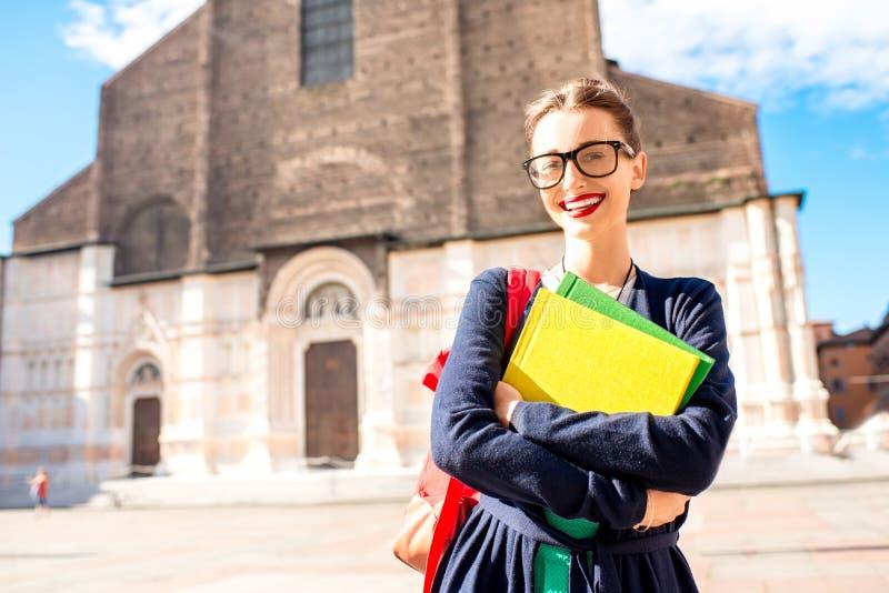 Student in de stad van Bologna royalty-vrije stock fotografie