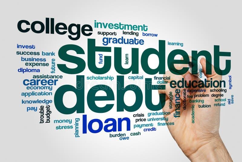 Student debt word cloud stock photo