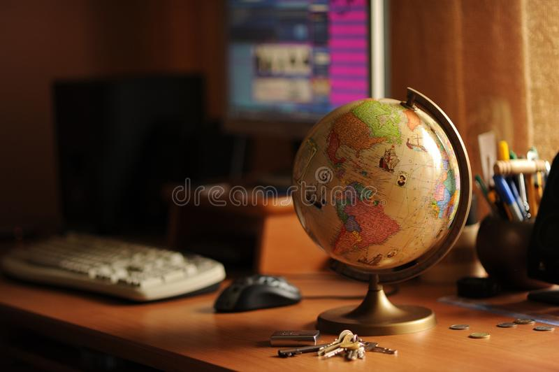 Student Desktop stockfotografie