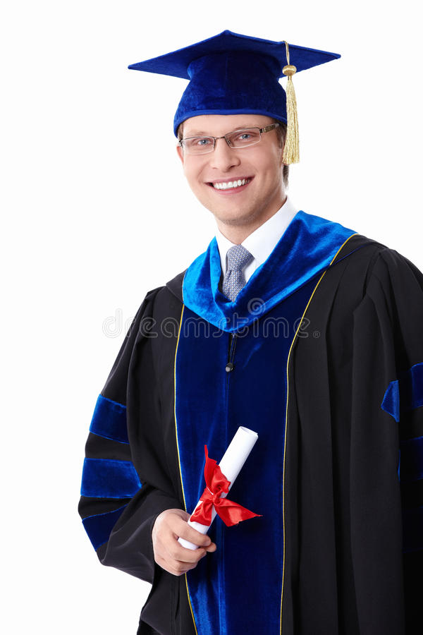 A Student With A Diploma Stock Image