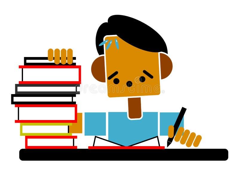 Download Student doing homework stock illustration. Illustration of tiring - 11578465