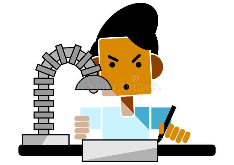 Download Student doing homework stock illustration. Image of study - 11685164