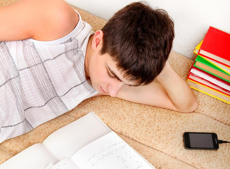 Student doing Homework stock image