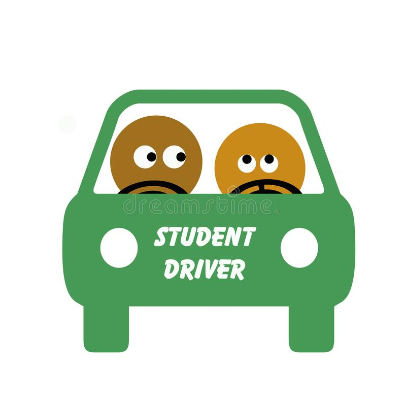 Download Student driver stock illustration. Illustration of learn - 9998140