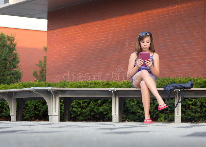 Download Student with E-Book stock image. Image of generation - 20603211