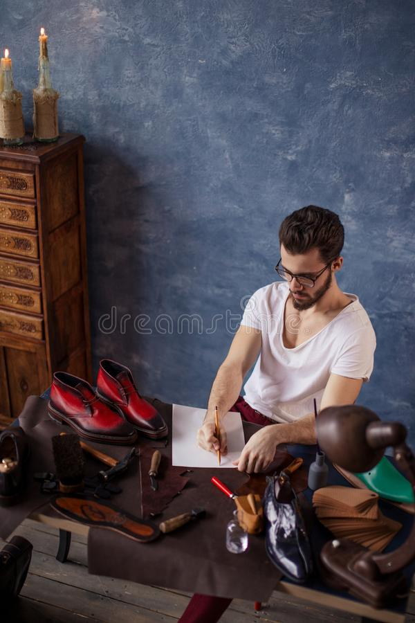 Student earning money after studing at the university royalty free stock photo