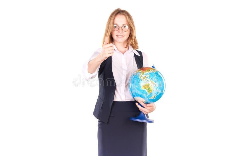 Student in eenvormig stock foto's