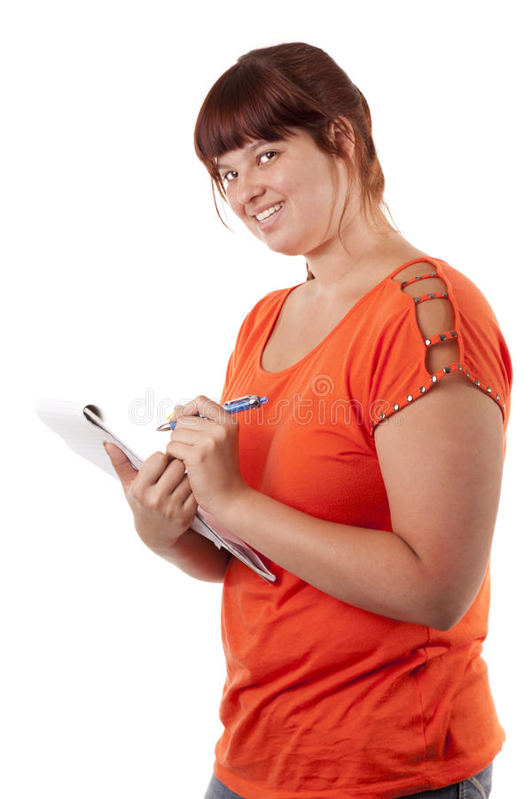 Download Student girl stock image. Image of casual, homework, smiling - 25427169