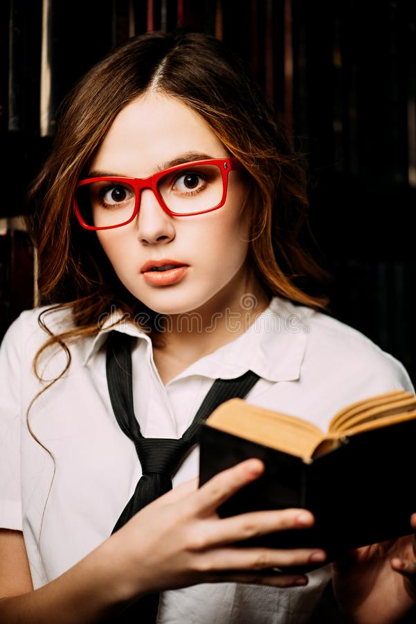 Student girl with book stock photography